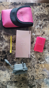 Pink DS with 3 games and case