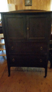 Antique solid wood tall dresser