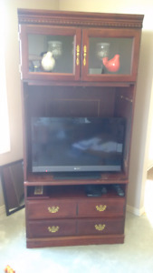 Cherry finished TV Stand