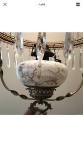 Oil lamp chandelier antique
