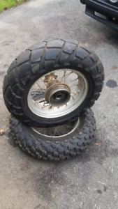 Tw200 rear rims and tires.