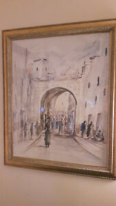 Aquarelle original Mohamed Achwak