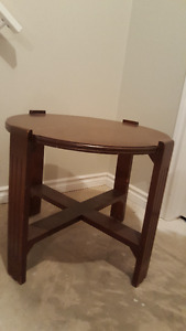 Solid wood cherry occasional table.