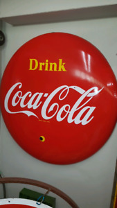 Coke button sign...4 feet.