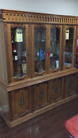 Display cabinet wooden