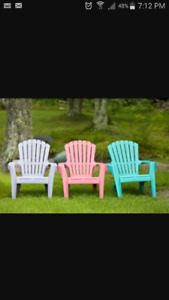 WANTED: Plastic Garden Chairs