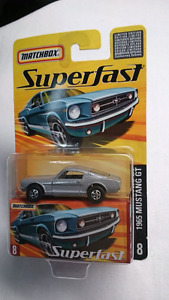 MATCHBOX SUPERFAST NO 8 DIE CAST 1965 MUSTANG GT SILVER NIB