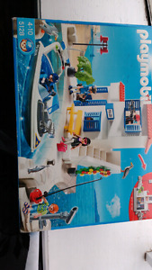Playmobil - harbor police with boat