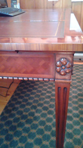 Antique partners writing table