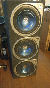 3 10in Kenwood subs in box