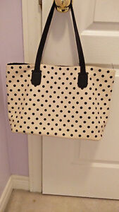 CREAM POLKA-DOT CASUAL PURSE