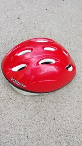 RED HELMET AND FROG HELMET $5 EACH - NO ACCIDENTS
