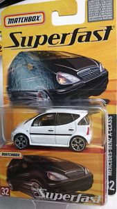 MATCHBOX SUPERFAST NO 32 DIECAST MERCEDES BENZ A-CLASS WHITE