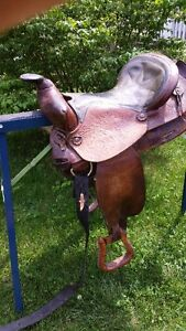 Three Western Saddles for Sale