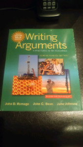 Writing Arguments (A Rhetoric with Readings)