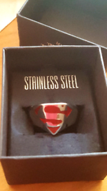 Official Warner bros Superman ring! Mens size L great gift