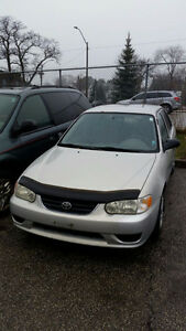 2001 Toyota Corolla CE Plus Sedan Safety & E-test