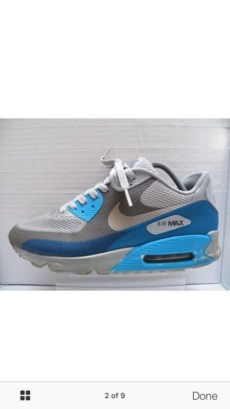 newest 321c2 9f459 100% genuine Nike Air Max 90 Hyperfuse Midnight Fog blue Glow size 8 rare