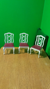 Vintage Sindy Doll/ Barbie Doll Dining Room Chairs
