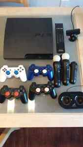 PS3 (160GB) + 30 Games, 4 Controllers, PS Move, Remote