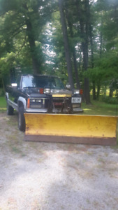 Gmc pickup c/w Fisher power angle snow plow
