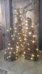 BARBED WIRE TREES  WITH LED LIGHTS