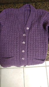 Attractive Hand-Knit Cardigan-Sweater
