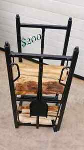 Meticulously Designed Wood Storage and Tool Stand, Locally Handc