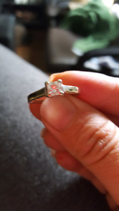 Princess cut engagement ring  500 firm
