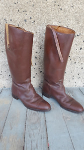 Vintage Equestrian dressage riding leather boots
