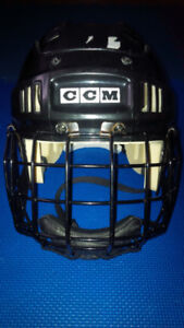 Hockey Helmet with Cage/Chin Protector- Youth