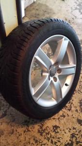 4 Mags Audi d'origine 17 poA4 pneus d'hiver Gislaved 225 50 R17