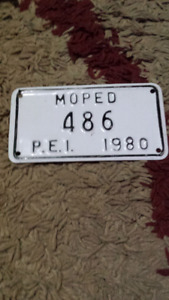 1980 prince edward island  moped license plate