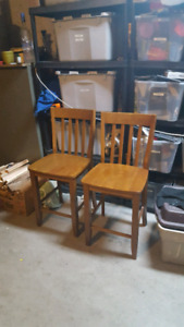 Two bar stools or chairs