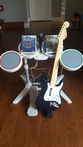 Wii Rockband- Instruments and Games