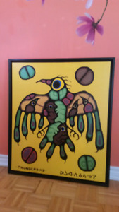 38-33 inch - Large Canvas Norval Morrisseau - Thunderbird