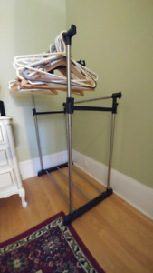 Adjustable Clothing Rack with Two Rails