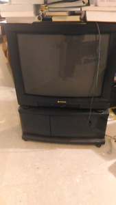 """Hitachi 32"""" tv with stand"""