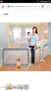 GRIMSBY- children baby toddler pet safety gate custom width x2