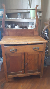 Matching antique dresser and commode