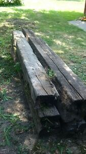 8+ Railroad Ties Rough Shape- good for split rail Fence Windsor Region Ontario image 3
