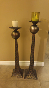 Free standing candle holders