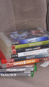 2 xbox one games and 6 ps3 games