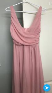 Pink chiffon formal dress