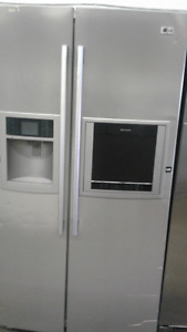 "LG Double Door Stainless Steel 36"" Fridge"