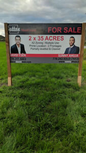 Two 35 Acre Bareland Parcels in Matsqui, Abbotsford - A2 Zoning