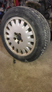 Full set of Wheels 205/55R16 all seasons on 5 bolt Volvo rims
