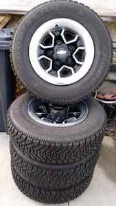 P195/75R14 Goodyear Nordic Winters on 93 Chevy S10 Rally Wheels