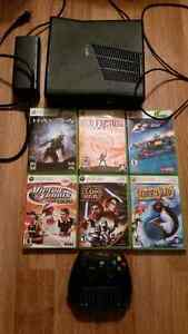 XBOX 360 Slim Console 250gb with controller and 6 games
