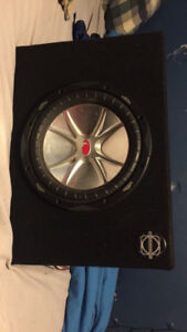 10 inch 1400 watt subwoofer and amp